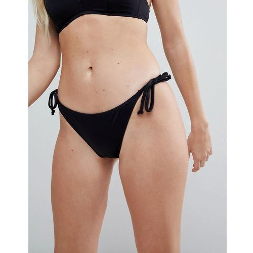 black tie side bikini bottom - black, Dorina