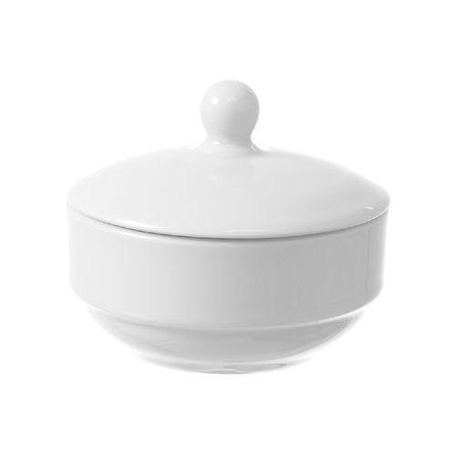Cukiernica z pokrywką porcelanowa bianco marki Fine dine