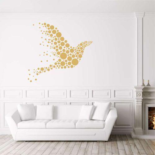 Wally - piękno dekoracji Szablon na ścianę abstrakcyjny gołąb 2364