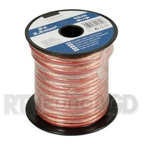 Kabel głośnikowy VIVANCO 2 x 2.5mm2 10m (46824) Transparentny, 46824