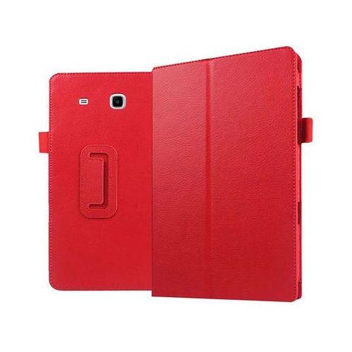 Czerwone etui skórzane PU Stand Cover Galaxy Tab E 9.6 T560 - Czerwony