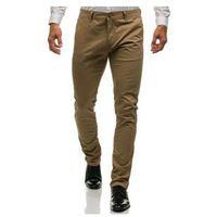Spodnie chinosy męskie beżowe denley 6807 marki M.sara