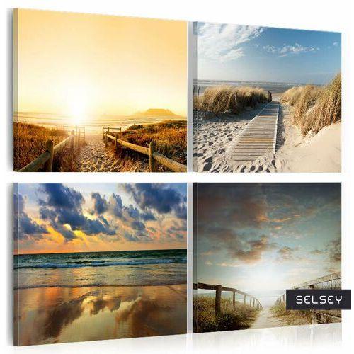 Selsey obraz - na plaży ze snów 80x80 cm