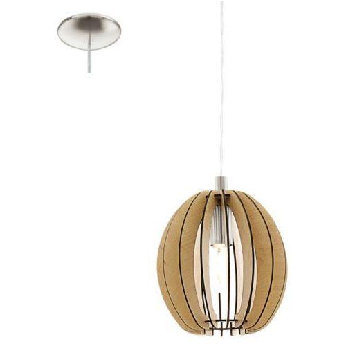 Lampa wisząca cossano śr. 19 cm - jasna, 94768 marki Eglo