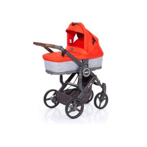 wózek dziecięcy mamba plus graphite grey-flame, stelaż cloud / siedzisko graphite grey wyprodukowany przez Abc design