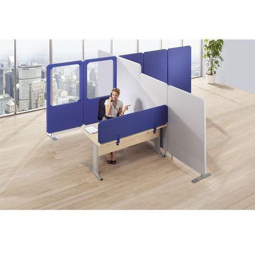 System tłumiących hałas ścianek działowych Premium, panel z okienkiem, wys. 1800