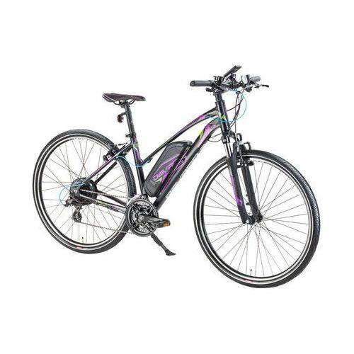 """Damski crossowy rower elektryczny Devron 28162 - model 2017, Szary, 18"""" (8596084062925)"""