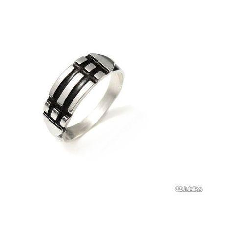 PIERŚCIEŃ ATLANTÓW POSREBRZANY obrączka amulety talizmany kolor czarny, ar3