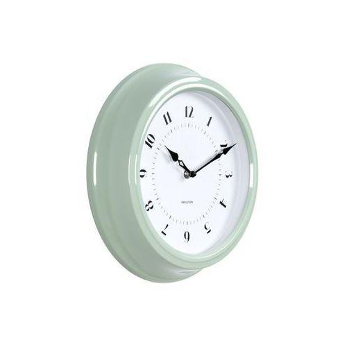 Zegar ścienny Fifties green Medium by Karlsson, kolor zielony