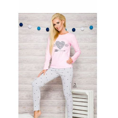Taro Piżama damska model gala 2113 aw/17 k2 pink/grey