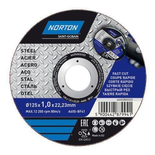 Tarcza korundowa Norton do cięcia stali 41-125 x 1 0 x 22 2 mm (5900442879941)