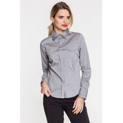 Koszula z pionowymi zakładkami - Duet Woman