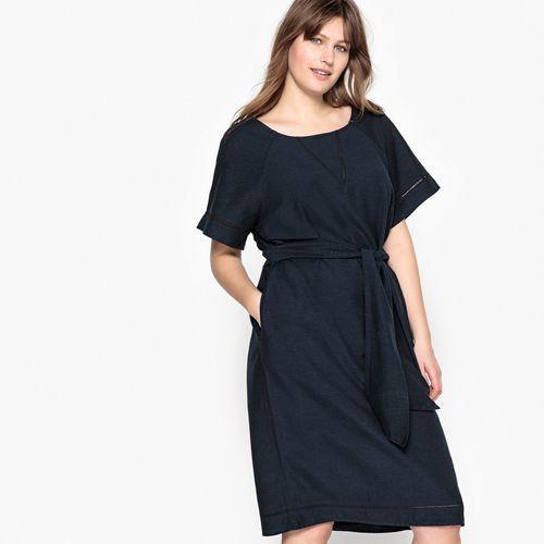 Prosta krótka sukienka z krótkim rękawem, Castaluna