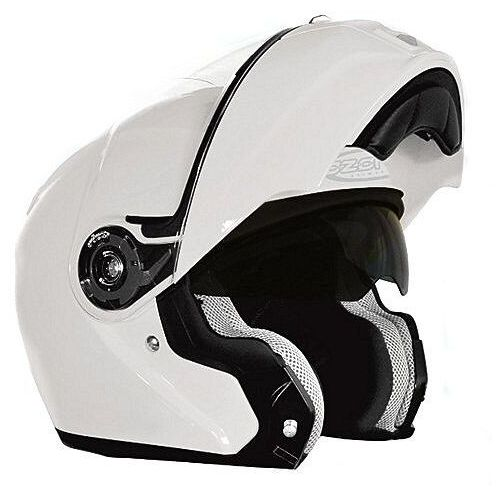 Kask  flip up white marki Ozone
