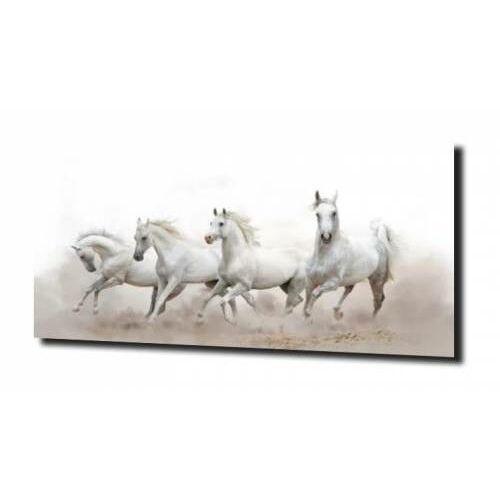 obraz na szkle, panel szklany Białe konie 120X60