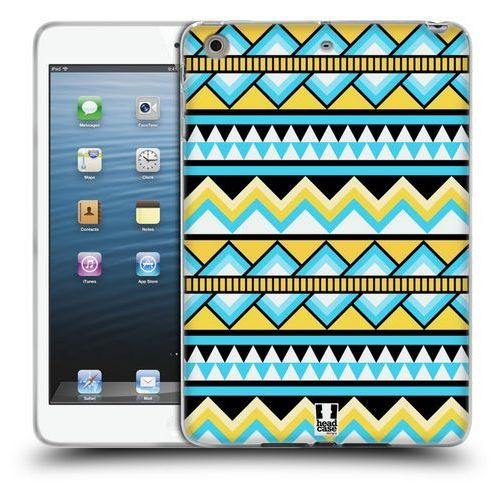 Etui silikonowe na tablet - Aztec Patterns YELLOW AND BLUE