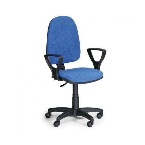 Krzesło biurowe torino z podłokietnikami, niebieske marki Euroseat