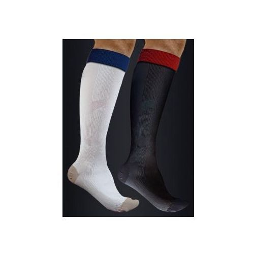 Antistress (włochy) Podkolanówki sportowe kompresyjne medyczne z tlenkiem miedzi active effect sport - kolor biały - unisex (ucisk i klasy 21mmhg) - antistress