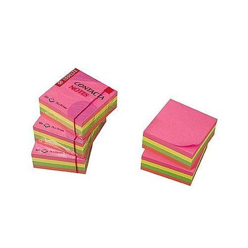 Kostka bloczek samoprzylepny 75x75mm Esselte Contacta neon 320 kartek 83065