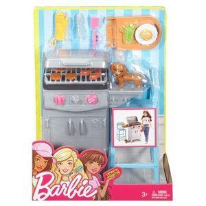 Barbie akcesoria wypoczynkowe grill marki Mattel