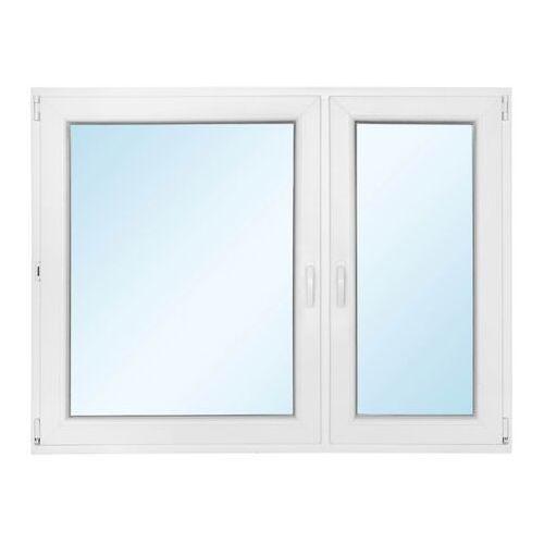 Okno PCV rozwierne + rozwierno-uchylne z mikrowentylacją 1465 x 1135 mm prawe