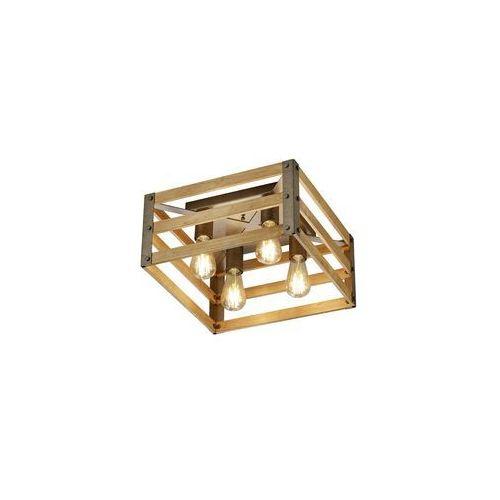 Trio khan 605500467 plafon lampa sufitowa 4x28w e27 brązowy / nikiel