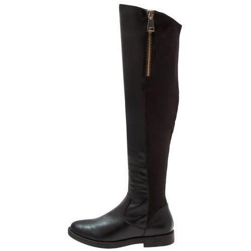 ONLY SHOES ONLTYRA LONG SHAFT Muszkieterki black, kolor czarny