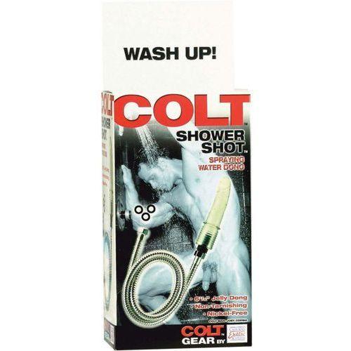 Dildo do zabawy pod prysznicem przezroczyste | 100% dyskrecji | bezpieczne zakupy marki Colt gear