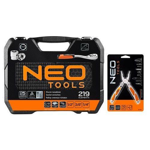 Zestaw kluczy nasadowych 08-671+g1 (219 elementów) + darmowy transport! marki Neo