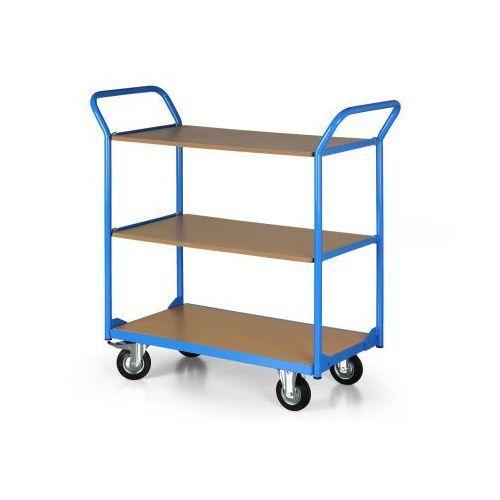 B2b partner Wózek platformowy compact, 3 półki