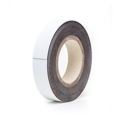 Magnetyczna tablica magazynowa, białe, rolka, wys. 25 mm, dł. rolki 10 m. zapewn marki Haas