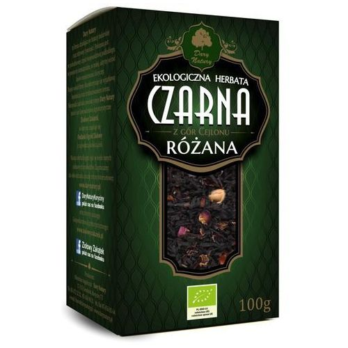 Herbata czarna cejlońska różana liściasta bio 100 g dary natury marki Dary natury - herbatki bio