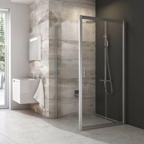 Ravak Blix ścianka stała jednoczęściowa BLPS-80, wys. 190 cm, Polerowane aluminium +Transparent 9BH40C00Z1