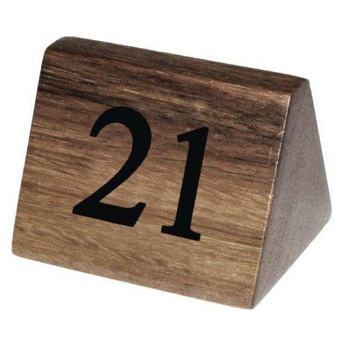 Drewniane numerki na stoły 21-30 | 3,5x3,5x(H)5,5cm