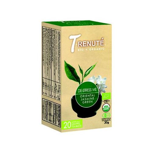 T'renute (herbaty) Herbata zielona z jaśminem de-stress me bio 30 g (1,5 g x 20 szt.) - t'renute