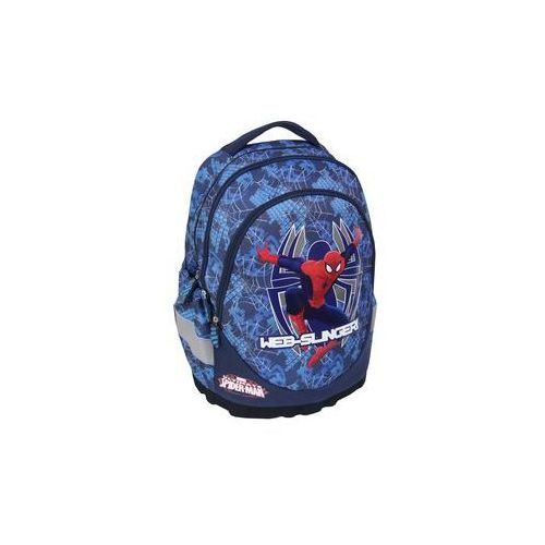 Plecak ergonomiczny 3-komorowy niebieski Spiderman - MST Toys, kolor zielony