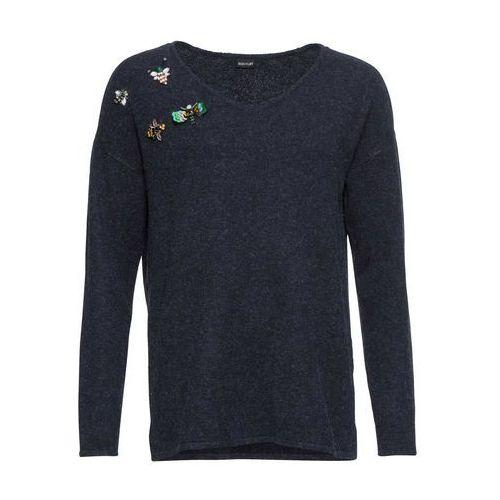 Sweter, długi rękaw, z kolekcji Maite Kelly bonprix zielona limonka - czarny wzorzysty, kolor zielony