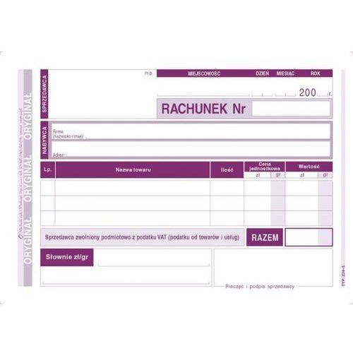 Rachunek dla zwolnionych z vat a6 (poziom) (0+1k) - g1039 marki Michalczyk i prokop