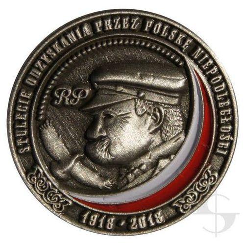 Pins - Stulecie odzyskania niepodległości przez Polskę 1918 - 2018 - stare srebro
