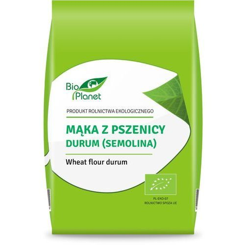 Mąka z pszenicy durum (semolina) bio 500 g - bio planet marki Bio planet - seria mąki i skrobie