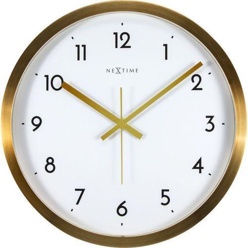 Nextime - Zegar ścienny Arabic - biały - 44 cm, kolor biały