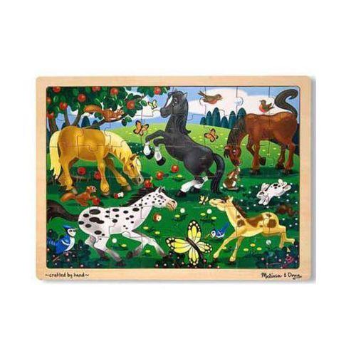 Puzzle drewniane konie 13801 marki Melissa & doug