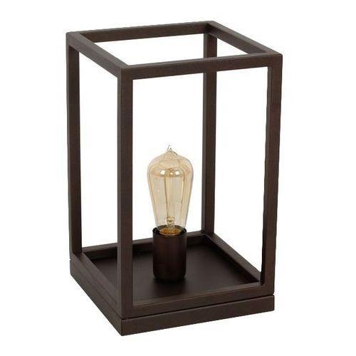 Lampka stołowa Luminex Frame 1 x 60 W E27 brown (5907565963946)
