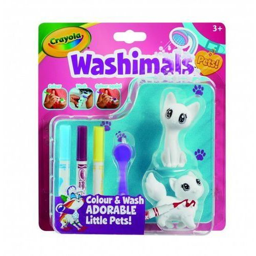 Crayola Figurki do malowania washimals blister pack - kotki (0071662072537)