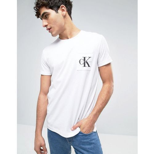 Calvin Klein Jeans Classic Re-Issue T-Shirt - White, kolor biały
