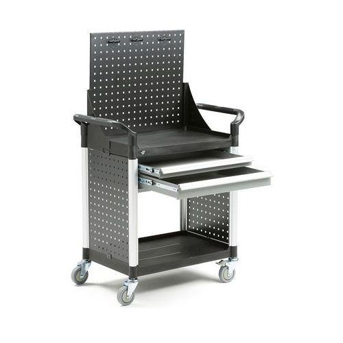 Aj produkty Wózek narzędziowy move, 2 szuflady +panel narzędziowy, 850x480x1345 mm