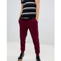 Polo Ralph Lauren heavy sweat cuffed joggers player logo in burgundy - Red