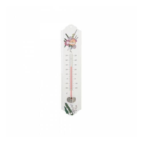 Metalowy termometr zewnętrzny 22cm WHITE LINE Bradas 9677