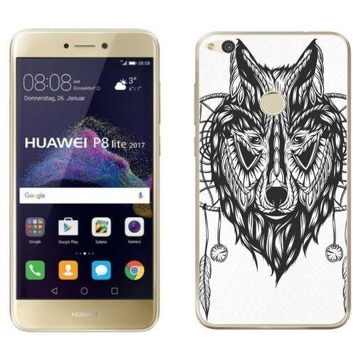 Huawei p8 lite 2017 - etui na telefon - kolekcja boho - łapacz snów i wilk - j36 marki Zolti