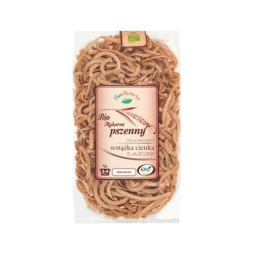 300g bio makaron pszenny pełnoziarnisty wstążka cienka marki Bioavena